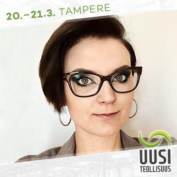 Uusi Teollisuus -messujen puhuja Sara Surakka